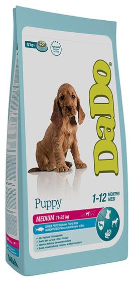 Dado Cane Puppy Medium con Pesce