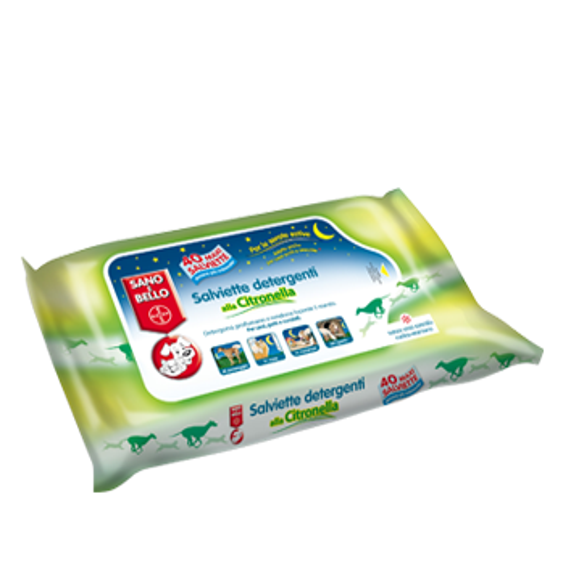Bayer Salviette Detergenti con Citronella 40 salviette