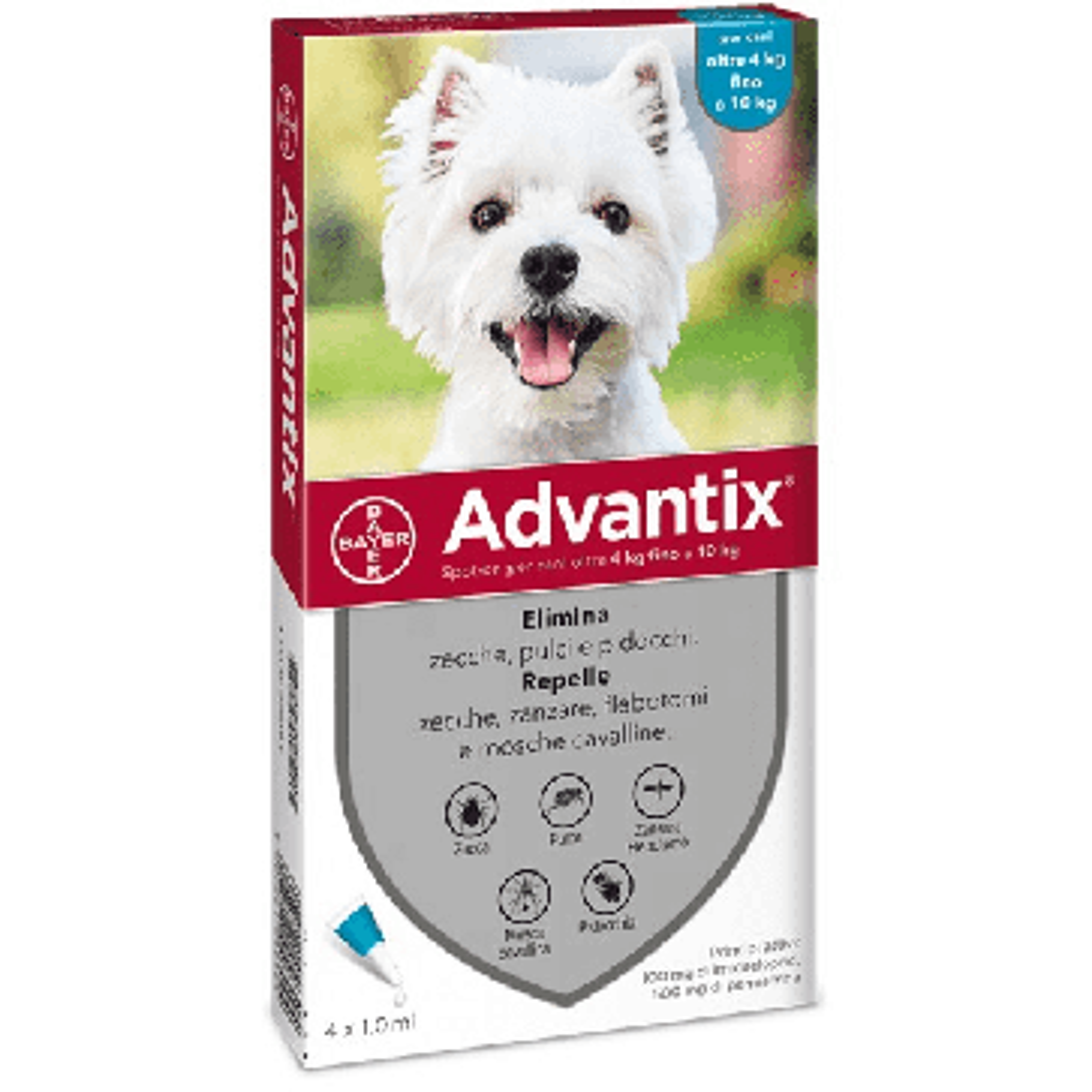 Advantix Spot On per Cani di Piccola Taglia (4-10 kg)