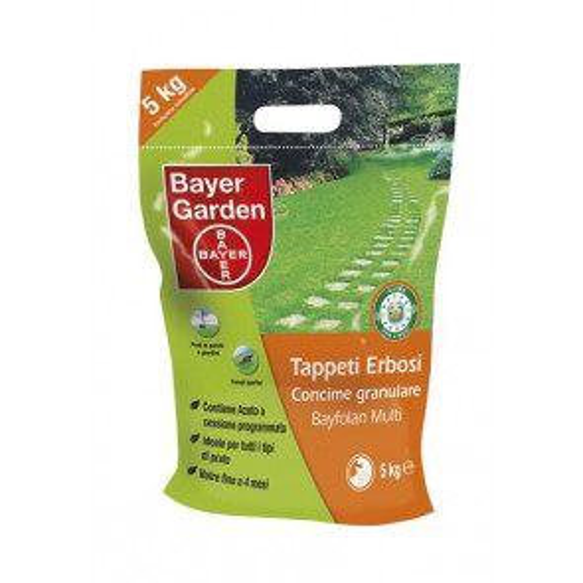 Bayer Garden Bayfolan Multi Concime Granulare per Tappeti Erbosi