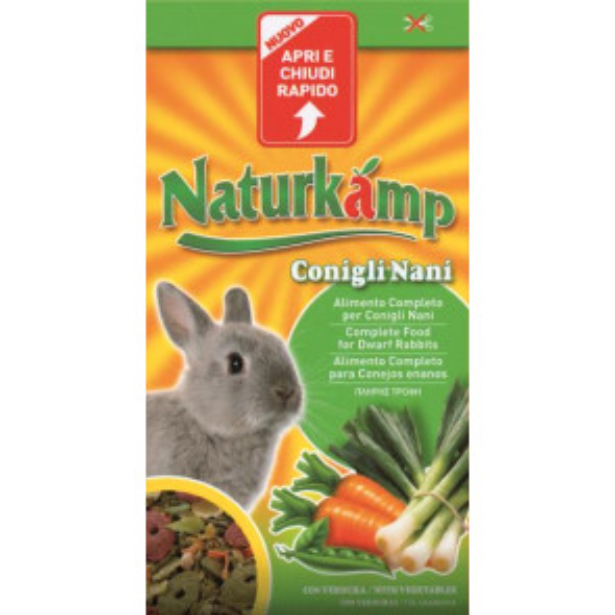Naturkamp Conigli Nani con Verdura