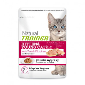 Trainer Natural Kitten & Young Cat Busta 85gr